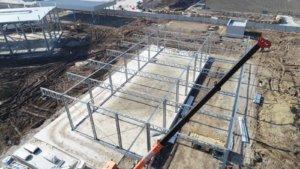 Монтаж швидкомонтованої будівлі LLENTAB