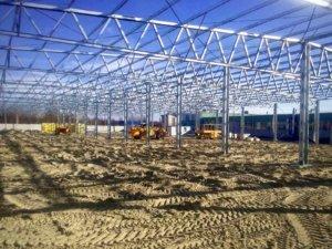 Будівництво швидкомонтованої будівлі в Черкасах