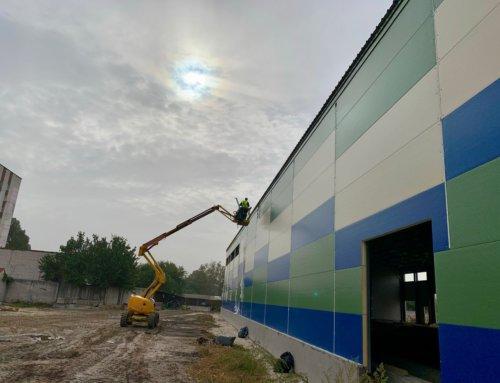 Фінальний етап зведення виробничого цеху в Черкасах