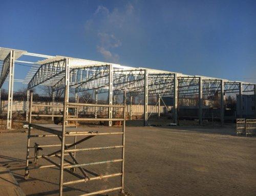 Зведення каркасу сталевої будівлі в м. Суми