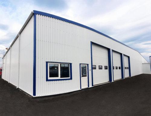 Складское здание для производителя минеральных вод