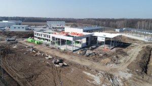Будівництво центру з продажу сільскогосподарської техніки