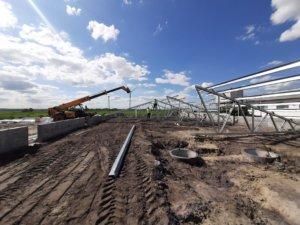 Будівництво швидкомонтованої будівлі в Глобино