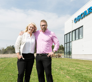 Linda Ericson, віце-президент та менеджер з маркетингу Oscar Medtec & Fredric Ericson, CEO of Oscar Medtec, Office building SE1651